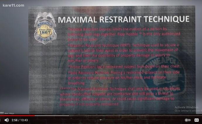 Maximal restraint
